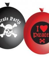 Piraten ballonnen 6 stuks trend