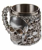 Piraten beker met schedels trend 10075215
