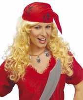 Piraten dames pruik met bandana trend