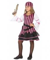Piraten kostuum voor meisjes roze trend