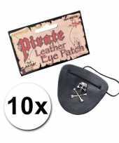 Piraten ooglapjes leder look 10x trend