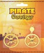 Piraten oorbellen goud trend
