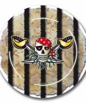 Piraten partijtje feestbordjes 8x trend