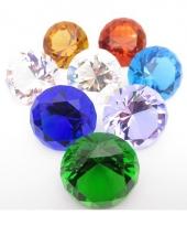 Piraten schat diamant licht blauw 4 cm trend