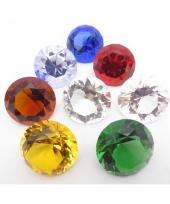 Piraten schat diamant licht blauw 5 cm trend