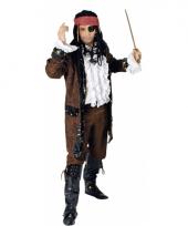 Piraten verkleed jas bruin trend