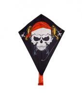 Piraten vlieger met staart 50 x 70 cm trend