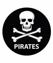 Pirates sticker met doodskop trend
