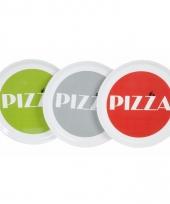 Pizzabord groen met witte rand 30 cm trend