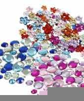 Plak diamantjes steentjes mix set 972 stuks trend