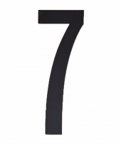 Plakcijfer 7 zwart 10 cm trend
