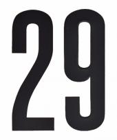 Plakcijfers 29 zwart 10 cm trend