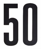 Plakcijfers 50 zwart 10 cm trend