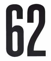 Plakcijfers 62 zwart 10 cm trend