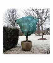 Plantenhoes jute groen wintermotief 1 m x 75 cm anti vorst trend