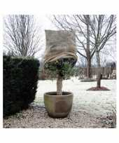 Plantenhoes jute naturel 1 m x 75 cm anti vorst bescherming trend