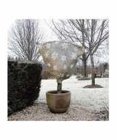 Plantenhoes jute naturel wintermotief 1 m x 75 cm anti vorst trend