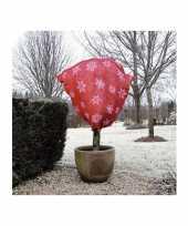 Plantenhoes jute rood wintermotief 1 m x 75 cm anti vorst trend