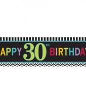 Plastic 30 jaar gevelvlag 165 cm trend