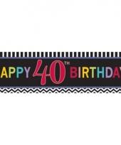 Plastic 40 jaar gevelvlag 165 cm trend