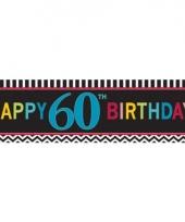 Plastic 60 jaar gevelvlag 165 cm trend