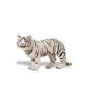 Plastic bengaalse tijgerin wit speelgoed dier 14 cm trend