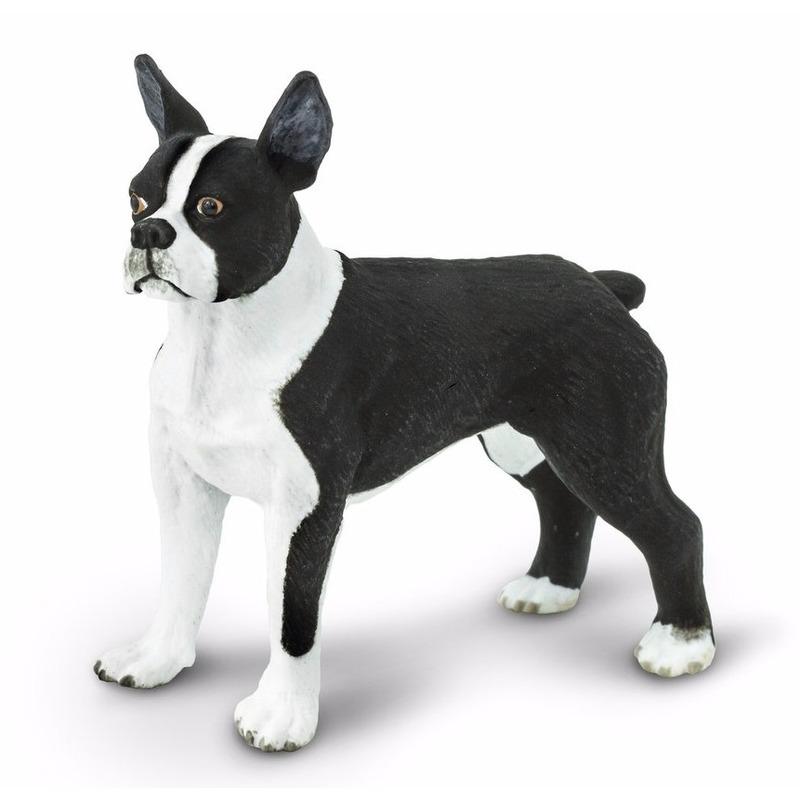 Plastic bostonterrier hond 5 cm trend