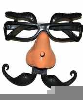 Plastic bril met wenkbrauwen trend