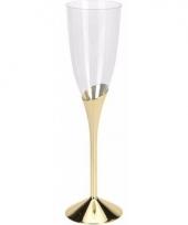 Plastic champagneglazen goud 4 stuks trend