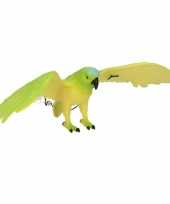 Plastic dieren groene ara 33 cm trend