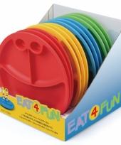 Plastic eetbord voor kinderen geel trend