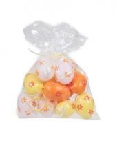 Plastic eieren bloemetje 12 stuks trend