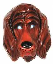 Plastic honden masker voor volwassenen trend