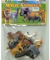 Plastic jungle dieren 12 stuks trend