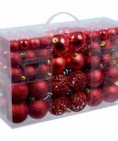 Plastic kerstballen rood 100 x trend