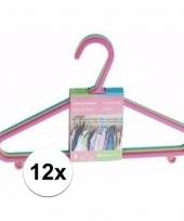 Plastic kledinghangers 12 delig trend