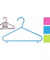 Plastic kledinghangers 6 delig trend