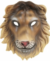 Plastic leeuwen kap masker trend