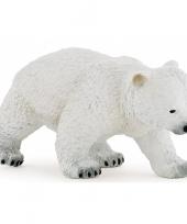 Plastic lopend ijsbeer welpje 8 cm trend