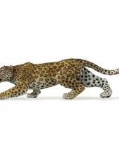 Plastic luipaard 14 cm trend