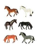 Plastic paarden 6 stuks trend
