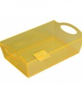 Plastic schaal geel 26 cm trend
