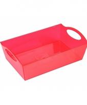 Plastic schaal rood 26 cm trend