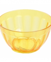 Plastic schaaltje geel 14 cm trend