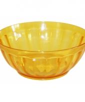 Plastic schaaltje geel 24 5 cm trend