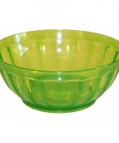 Plastic schaaltje groen 24 5 cm trend