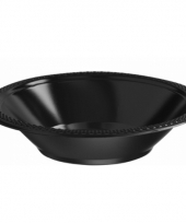 Plastic schaaltjes zwart 10 stuks trend
