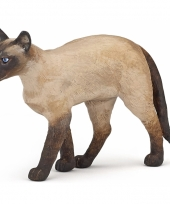 Plastic siamese kat staand 7 cm trend
