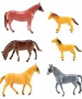 Plastic speelgoed paarden 6 stuks trend