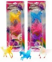 Plastic speelgoed pegasus 3 stuks trend